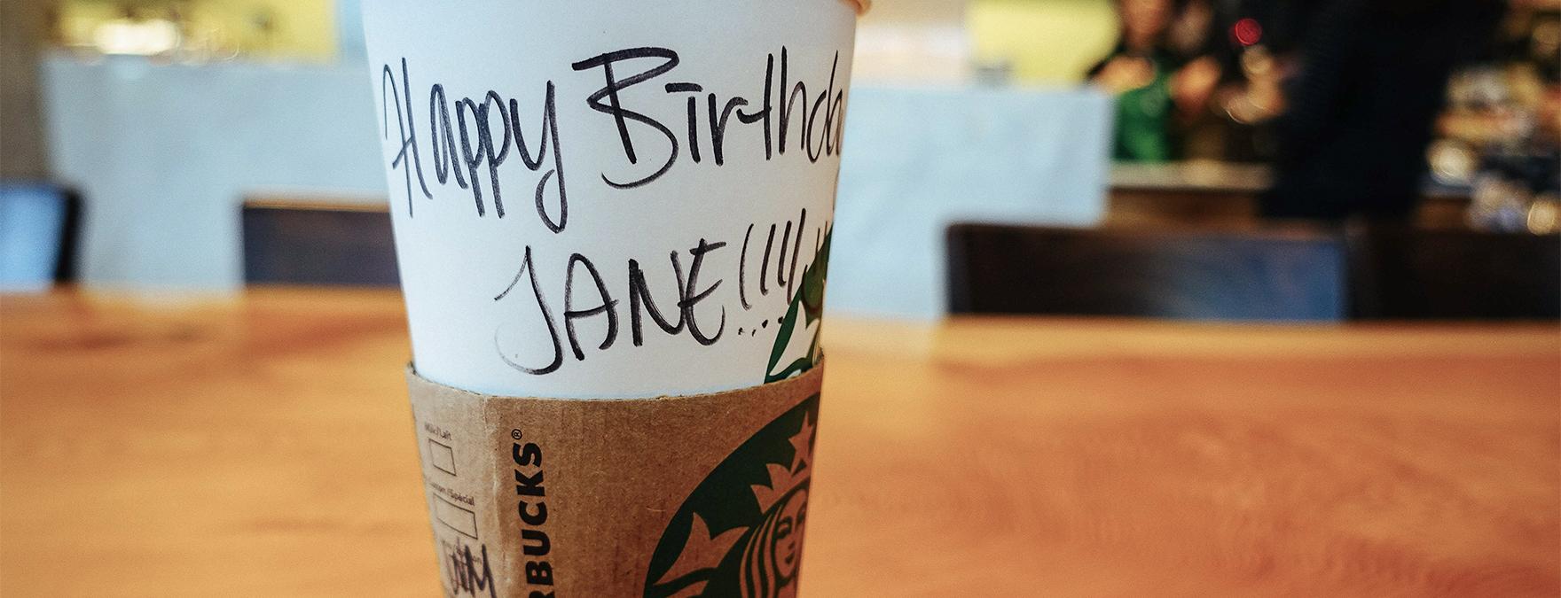 Starbucks birthday reward