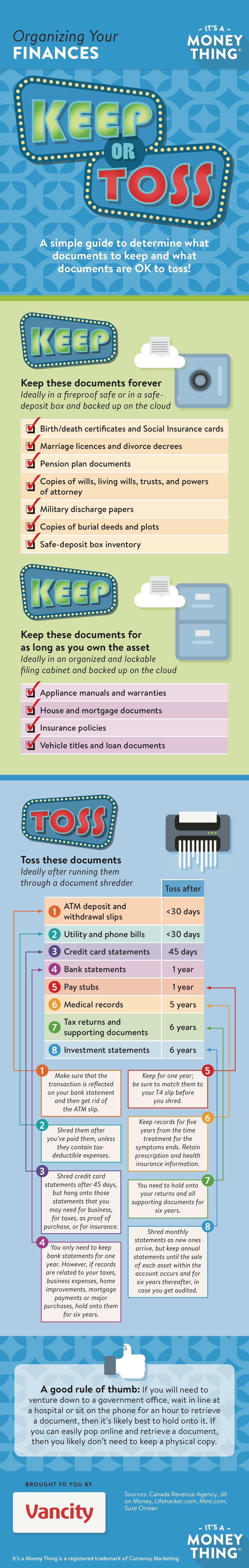 Infographic: Organizing your financial documents